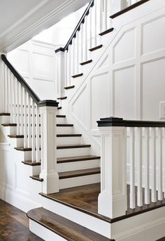 black and white staircase design