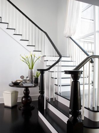 black and white staircase designs